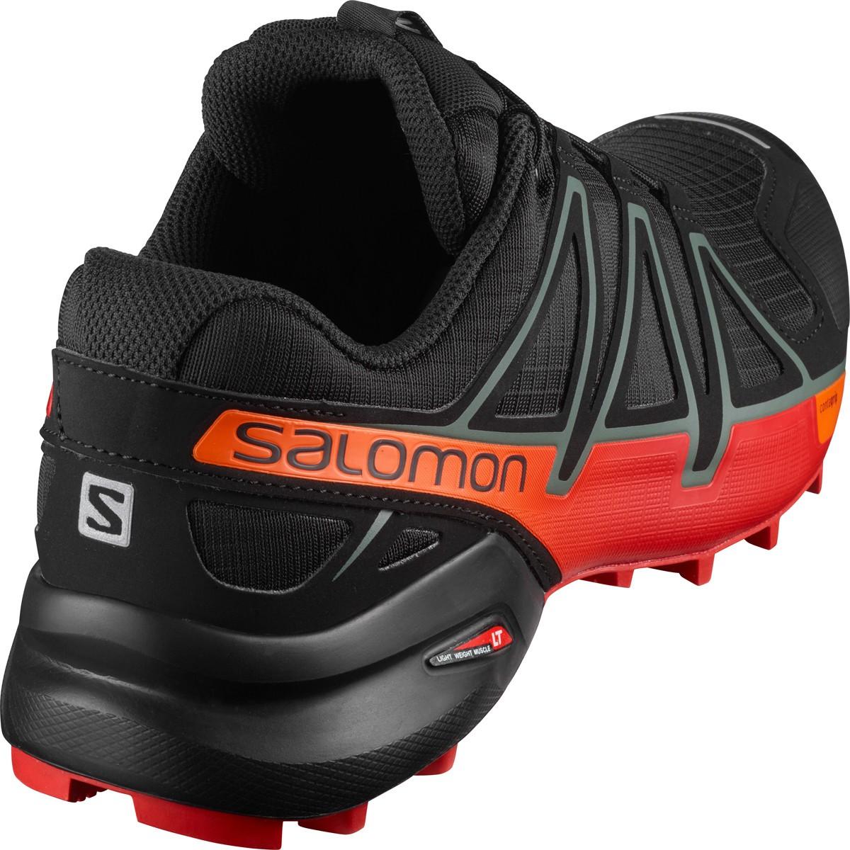 Tênis Speedcross 4 Masculino Salomon Preto e Vermelha
