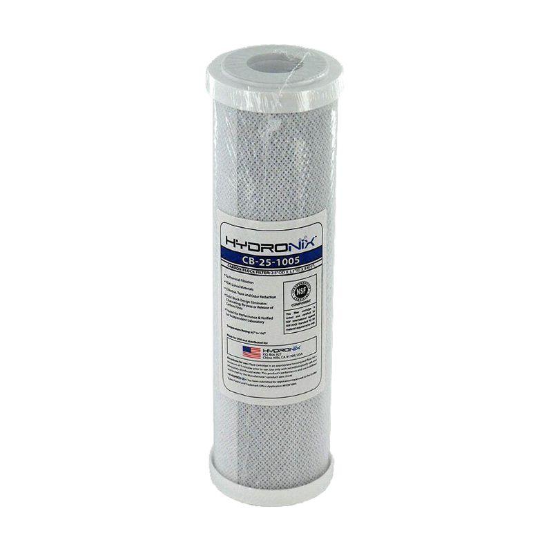 Cartucho Refil de Carvão Ativado Hydronix CBC-10' | CB-25-1005