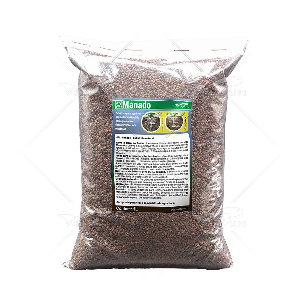 Manado JBL 1 litro | Substrato Fértil para Aquário Plantado