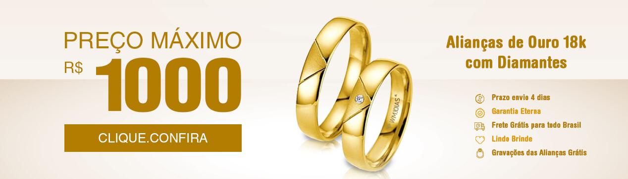 242e86deaedb9 WM Jóias   Alianças de Ouro, Fábrica de Alianças e Varejo