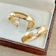 Aliança casamento em ouro 18K  Peso 9 Largura 4,5mm - WM10099