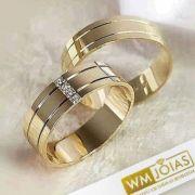 Aliança casamento em ouro Peso 14 Largura 7mm - WM10002