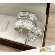 Aliança compromisso com anel -WM10220