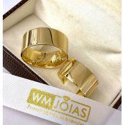 Aliança de casamento Grossa  Peso 25 gramas o par Largura 10mm- WM10085