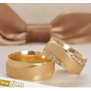 Aliança  de casamento ouro amarelo 18k  Peso 16 gramas  Largura 7,5mm- WM10226