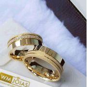 Aliança de casamento Peso 12 gramas e Largura 6mm- WM10152