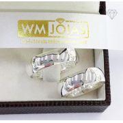 Aliança de namoro em prata 950   Peso 9 gramas Largura 6mm - WM10115