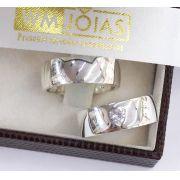 Aliança de namoro em prata 950 Peso 15 gramas 7mm WM10080