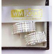 Aliança de namoro em prata 950   Peso 22 gramas Largura 9mm - WM10176