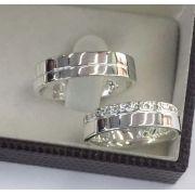 Aliança de namoro prata 950   Peso 10 gramas Largura 5mm - WM10119