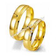 Alianca de noivado e casamento 18k WM2007