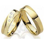 Alianca de noivado e casamento 18k WM2215