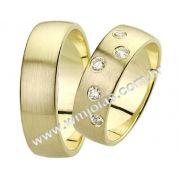Aliança de noivado e casamento WM1412