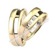 Aliança de noivado e casamento WM1502