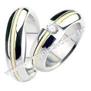 Aliança de noivado e casamento WM1508