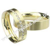 Aliança de noivado e casamento WM1511