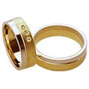 Aliança de noivado e casamento WM1566