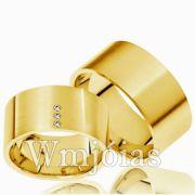 Aliança de noivado e casamento WM2994