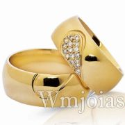 Aliança de noivado e casamento WM3034