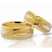 Aliança de noivado ou casamento WM3037