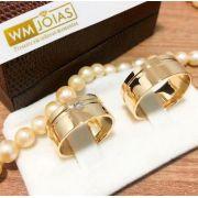 Aliança  de noivado ouro amarelo 18k  Peso 18 gramas  Largura 8,5 mm- WM10118