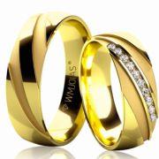 Aliança de ouro absolut plus WM3203