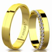 Aliança de ouro allure 11G 4,5 mm- WM3170