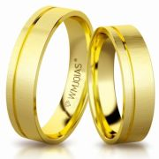 Aliança de ouro allure WM3195