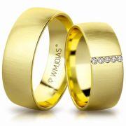 Aliança de ouro amazing WM3183