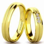 Aliança de ouro bolon WM3181