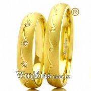 Aliança de ouro casamento e noivado WM2433