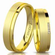 Aliança de ouro donna WM3175