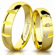 Aliança de ouro donna WM3199