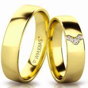 Aliança de ouro douradinha WM3200