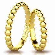 Aliança de ouro finesse WM3162