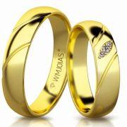 Aliança de ouro fortuna WM3169