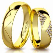 Aliança de ouro lecce WM3163