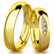 Aliança de ouro malta WM3152