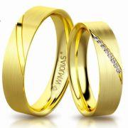Aliança de ouro palermo WM3171