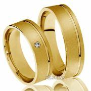 Aliança de ouro Preço  11G 6mm - WM10122