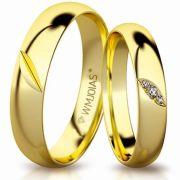Aliança de ouro privilege WM3158