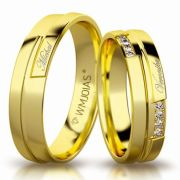 Aliança de ouro renoir premium WM3160