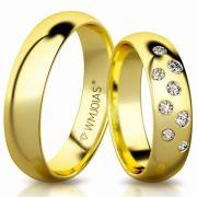 Aliança de ouro Sharm WM3192