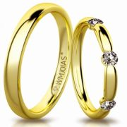 Aliança de ouro soberana WM3193