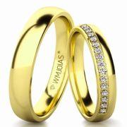 Aliança de ouro soneto WM3168