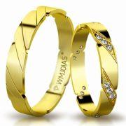 Aliança de ouro Way Slim WM3182