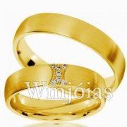 Aliança de ouro WM3003