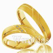 Aliança de ouro WM3011