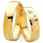 Aliança de ouro WM3038