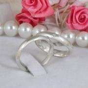 Aliança de prata para compromisso e namoro tradicional WM10310